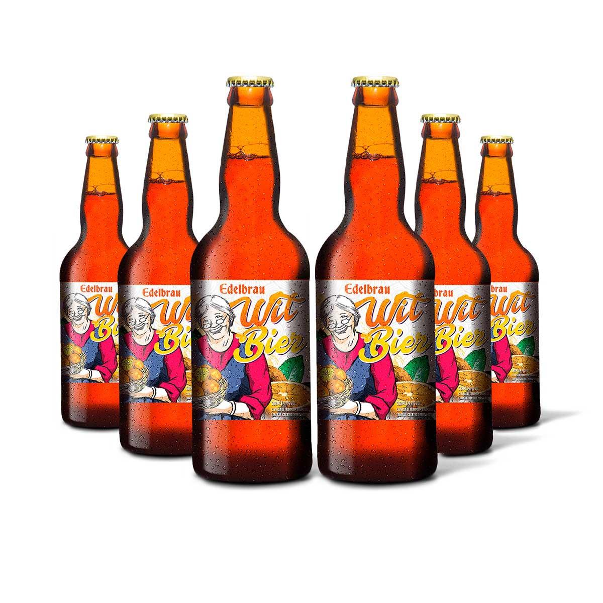 Pack Edelbrau Witbier 6 cervejas 500ml