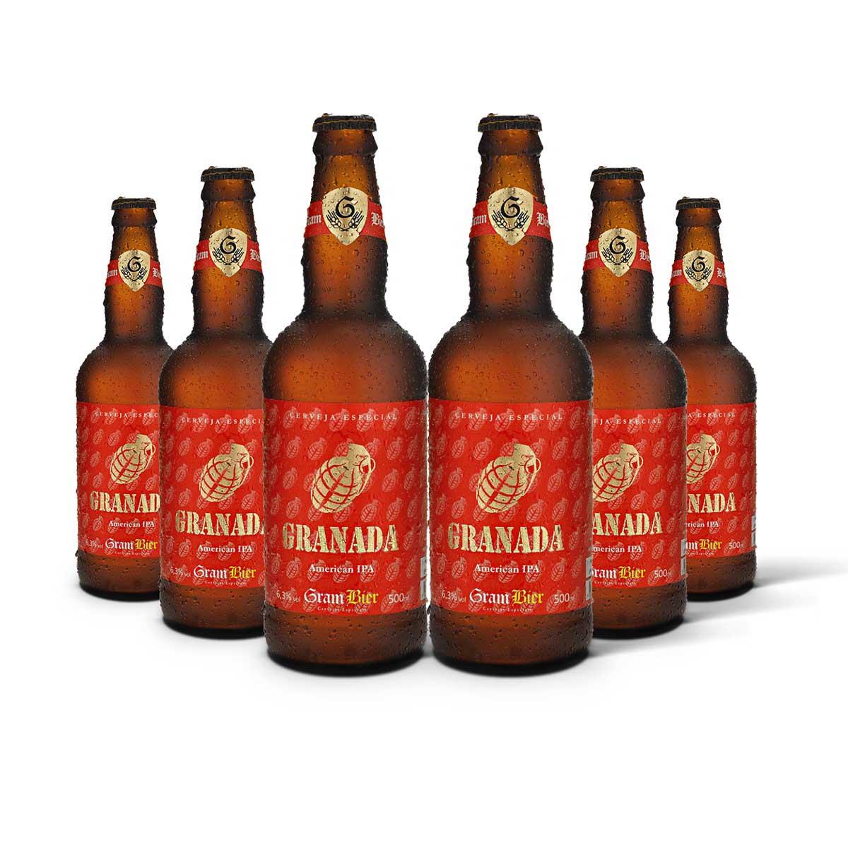 Pack Gram Bier American IPA Granada 6 cervejas 500ml