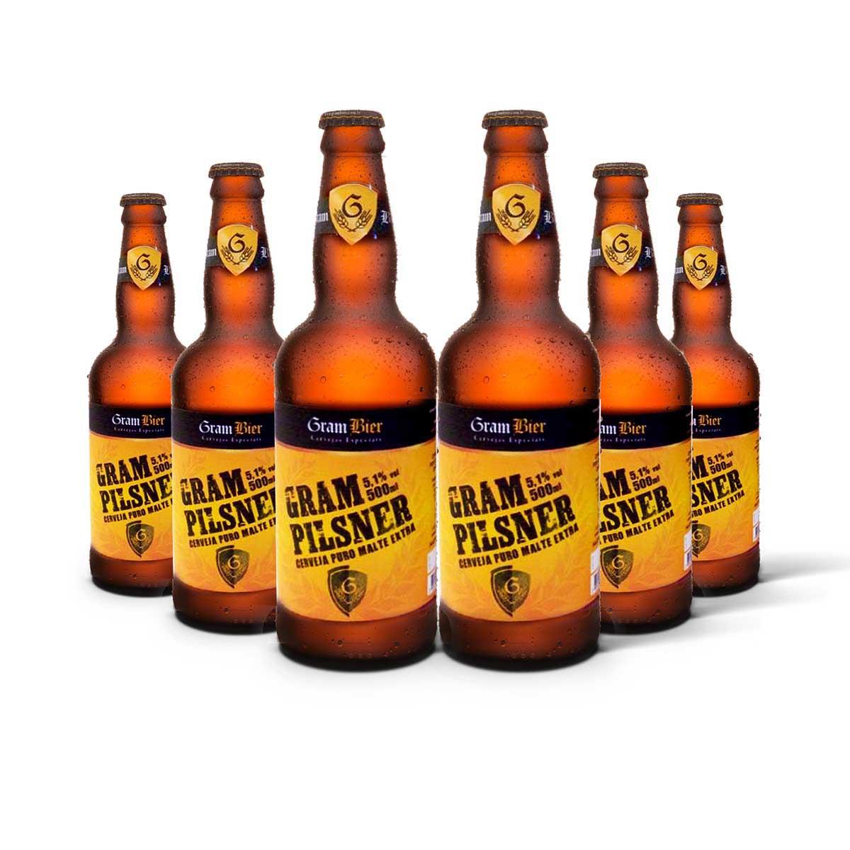 Pack Gram Bier Pilsen Gram Pilsener 6 cervejas 500ml