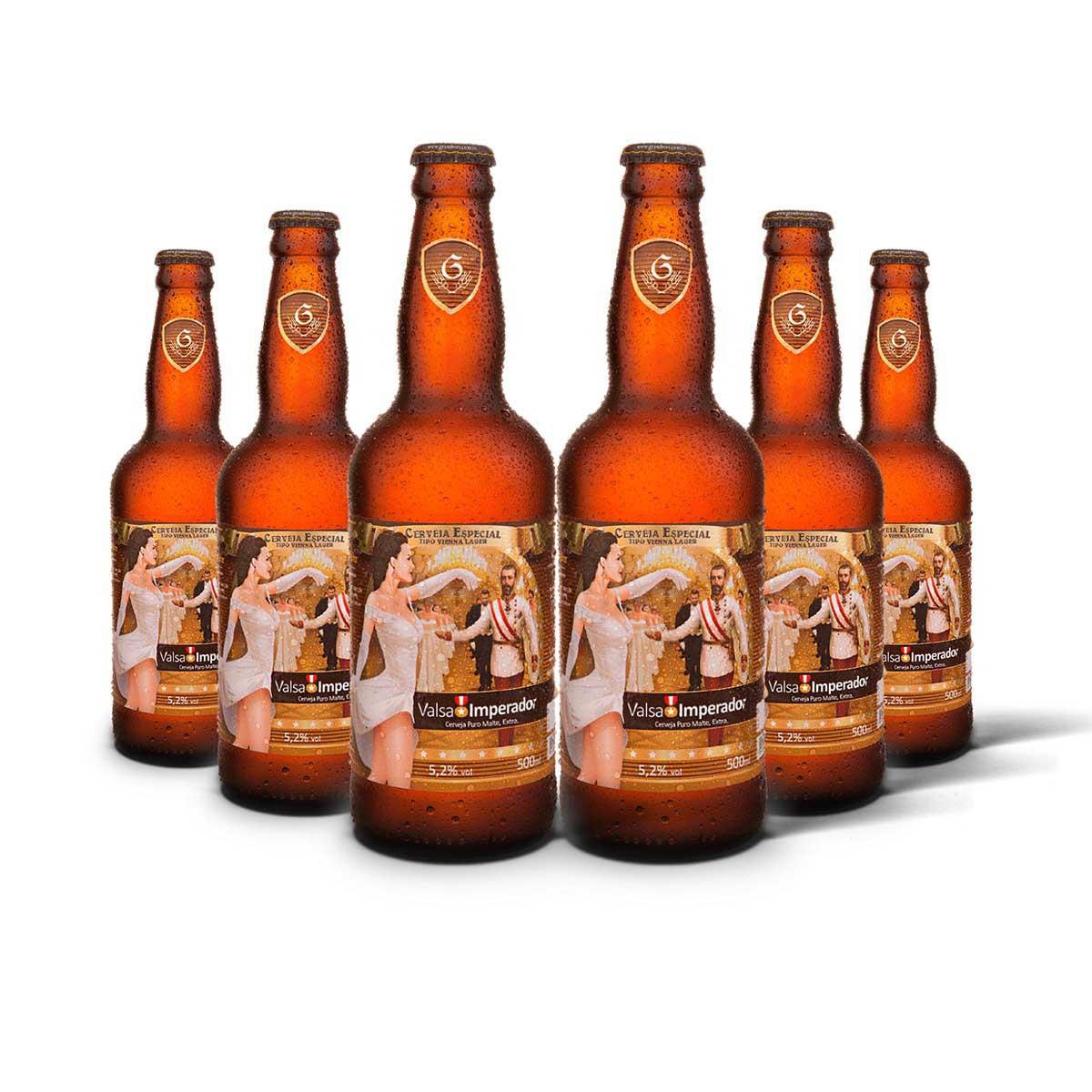 Pack Gram Bier Vienna Lager Valsa 6 cervejas 500ml