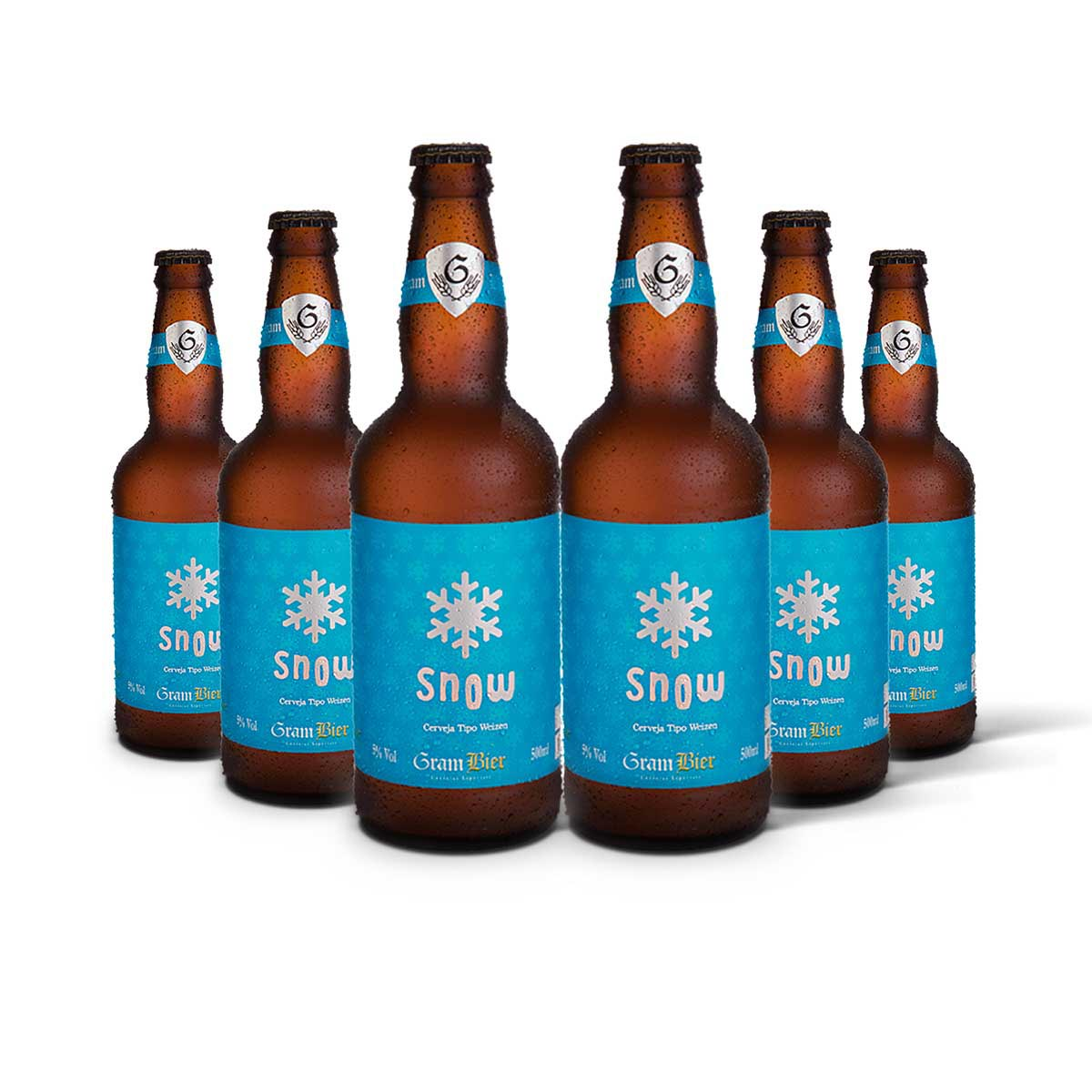 Pack Gram Bier Weizen Snow 6 cervejas 500ml