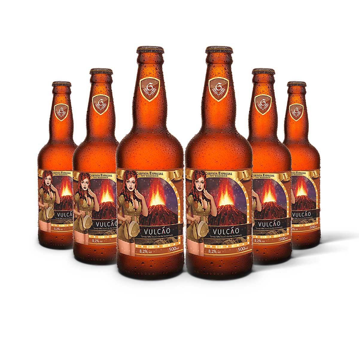 Pack Gram Bier WeizenBock Vulcão 6 cervejas 500ml