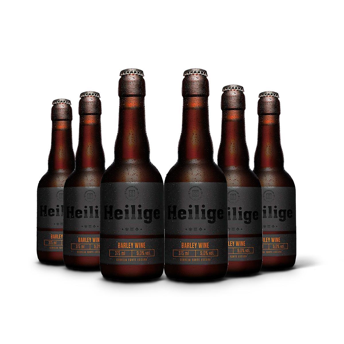 Pack Heilige Barley Wine 6 cervejas 375ml  - RS BEER - Cervejas Gaúchas