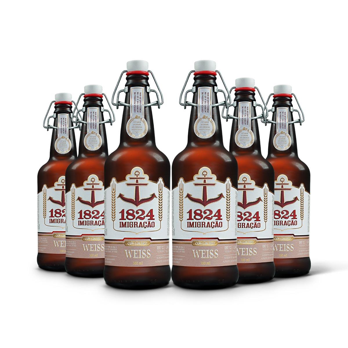 Pack Imigração Weiss 6 cervejas 500ml