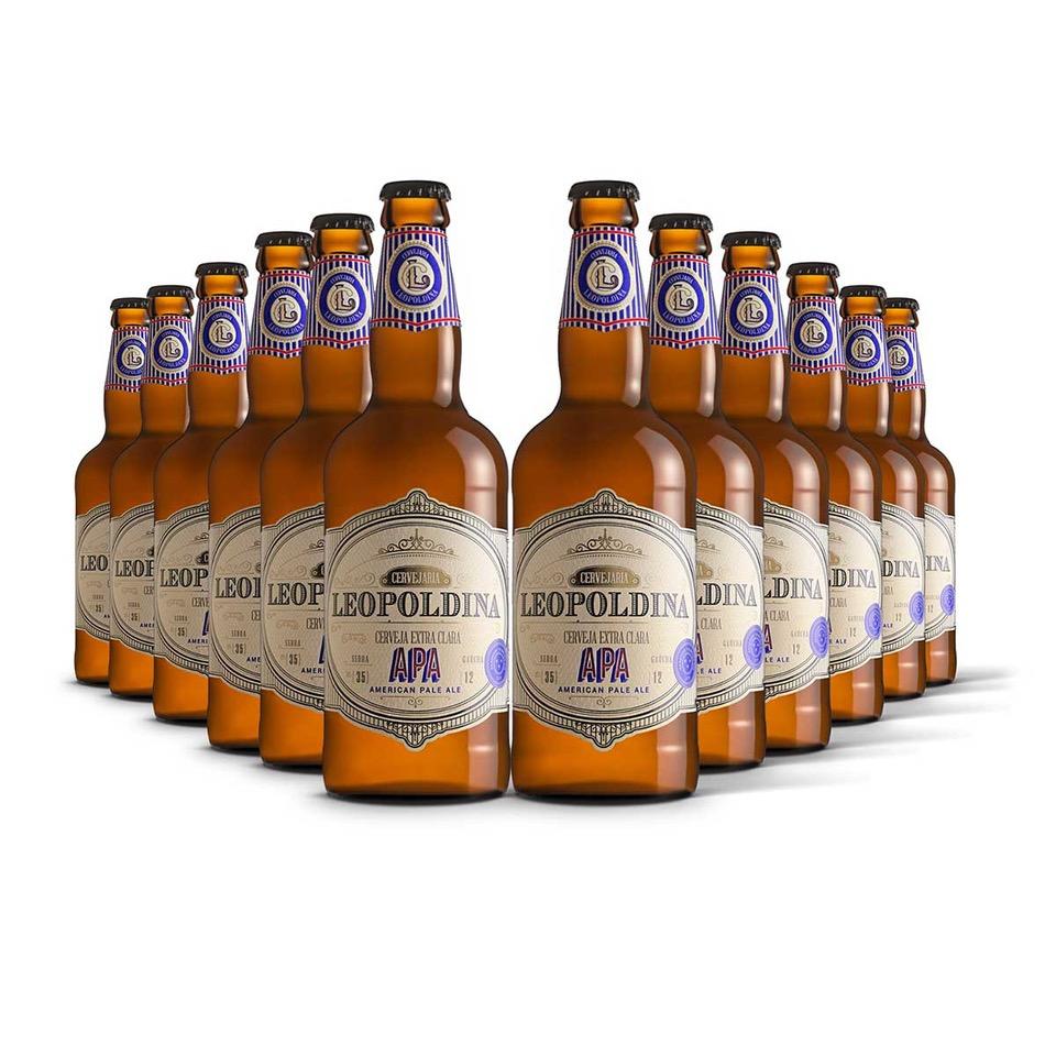 Pack Leopoldina American Pale Ale APA 12 cervejas 500ml  - RS BEER - Cervejas Gaúchas