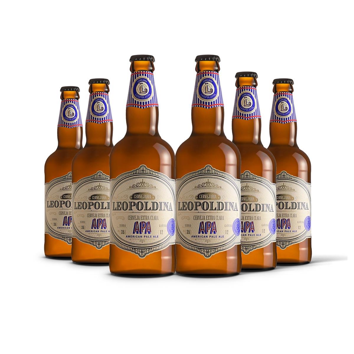 Pack Leopoldina American Pale Ale APA 6 cervejas 500ml