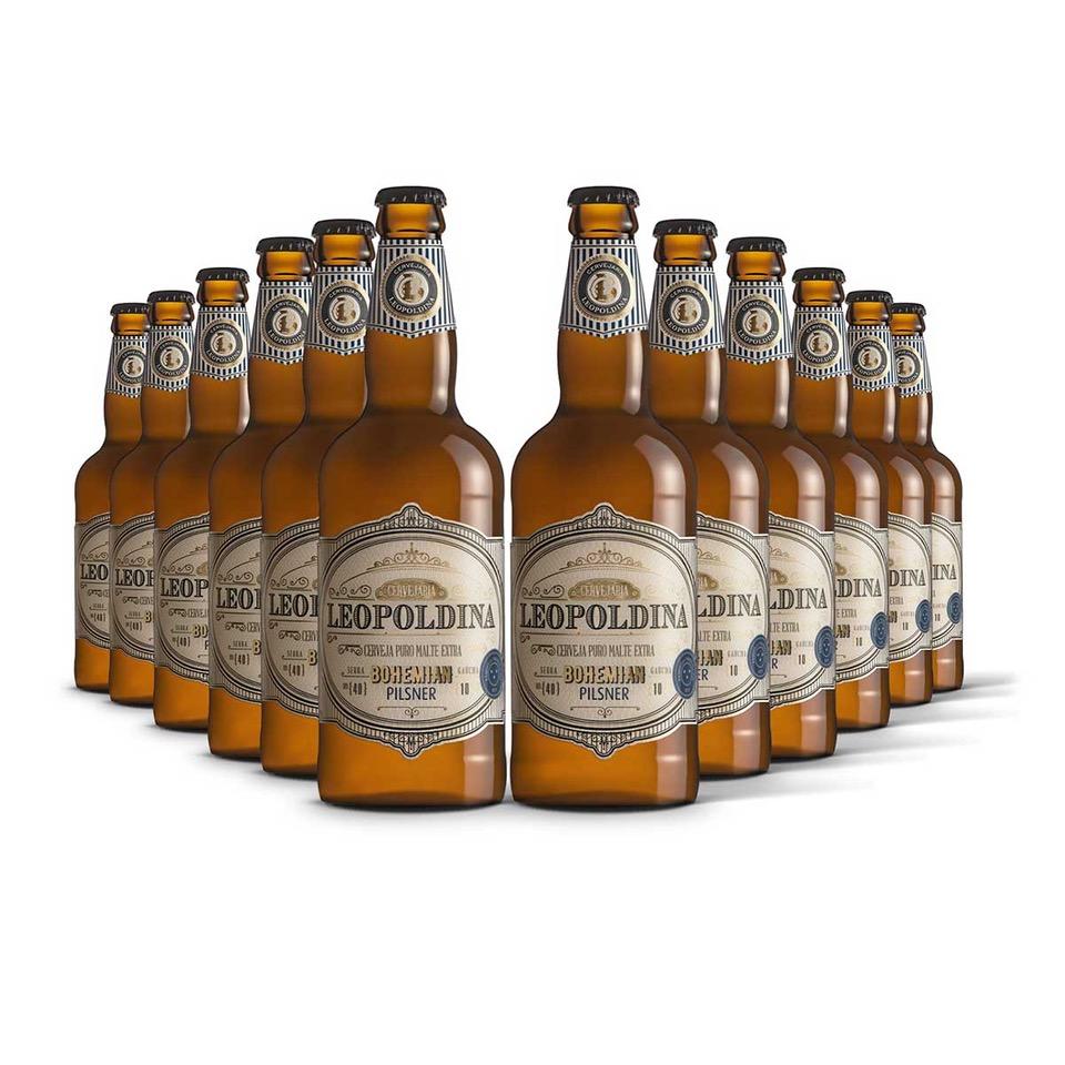 Pack Leopoldina Bohemian Pilsner 12 cervejas 500ml