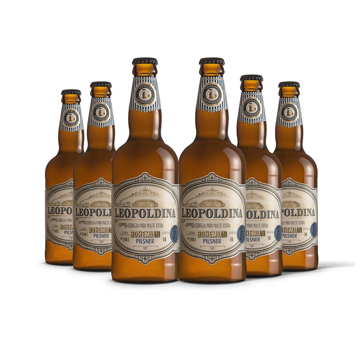 Pack Leopoldina Bohemian Pilsner 6 cervejas 500ml
