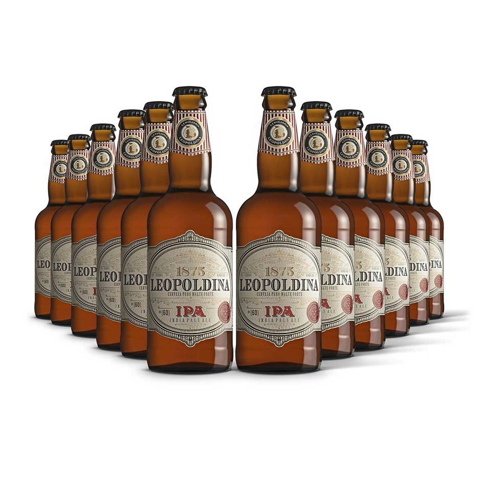 Pack Leopoldina India Pale Ale IPA 12 cervejas 500ml