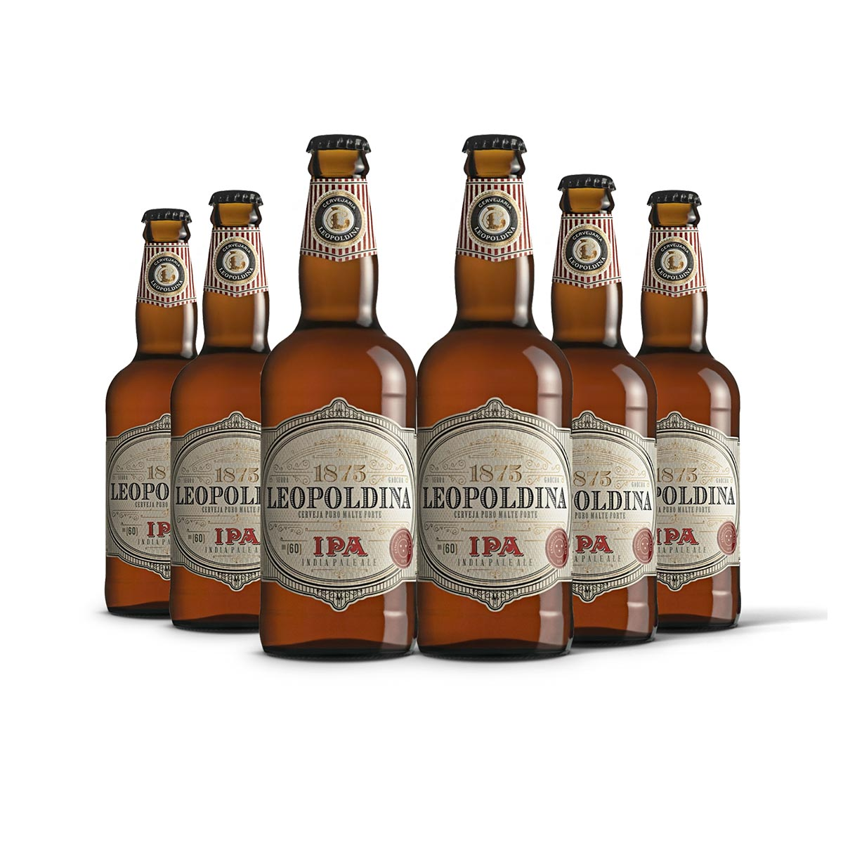 Pack Leopoldina India Pale Ale IPA 6 cervejas 500ml