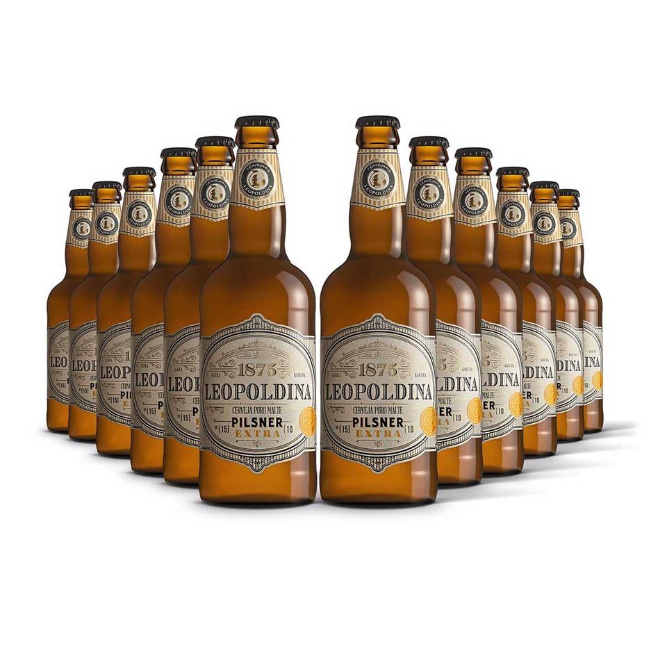 Pack Leopoldina Pilsner Extra 12 cervejas 500ml