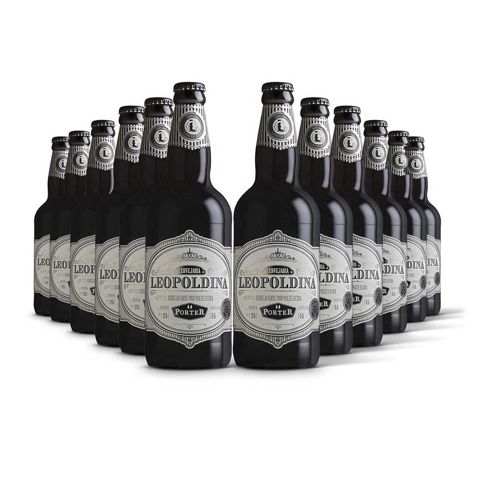 Pack Leopoldina Porter 12 cervejas 500ml