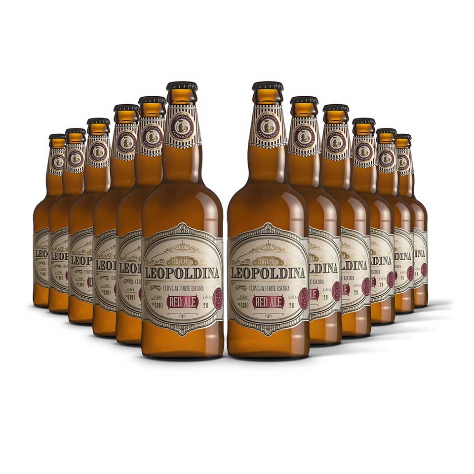 Pack Leopoldina Red Ale 12 cervejas 500ml