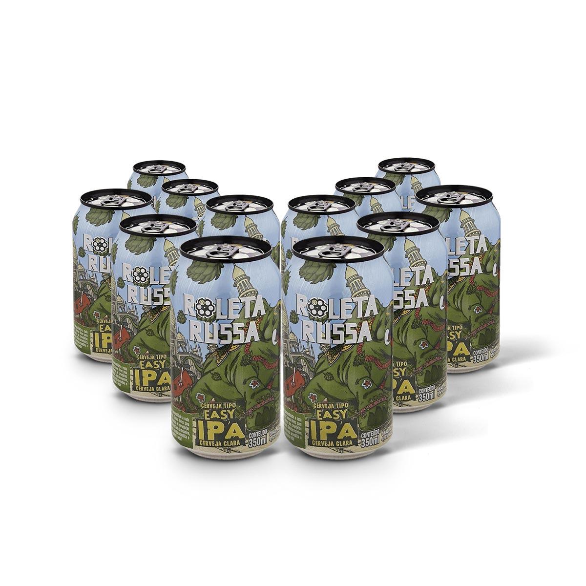 Pack Roleta Russa Easy IPA 12 cervejas 350ml  - RS BEER - Cervejas Gaúchas