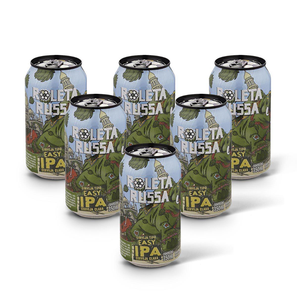Pack Roleta Russa Easy IPA 6 latas 350ml
