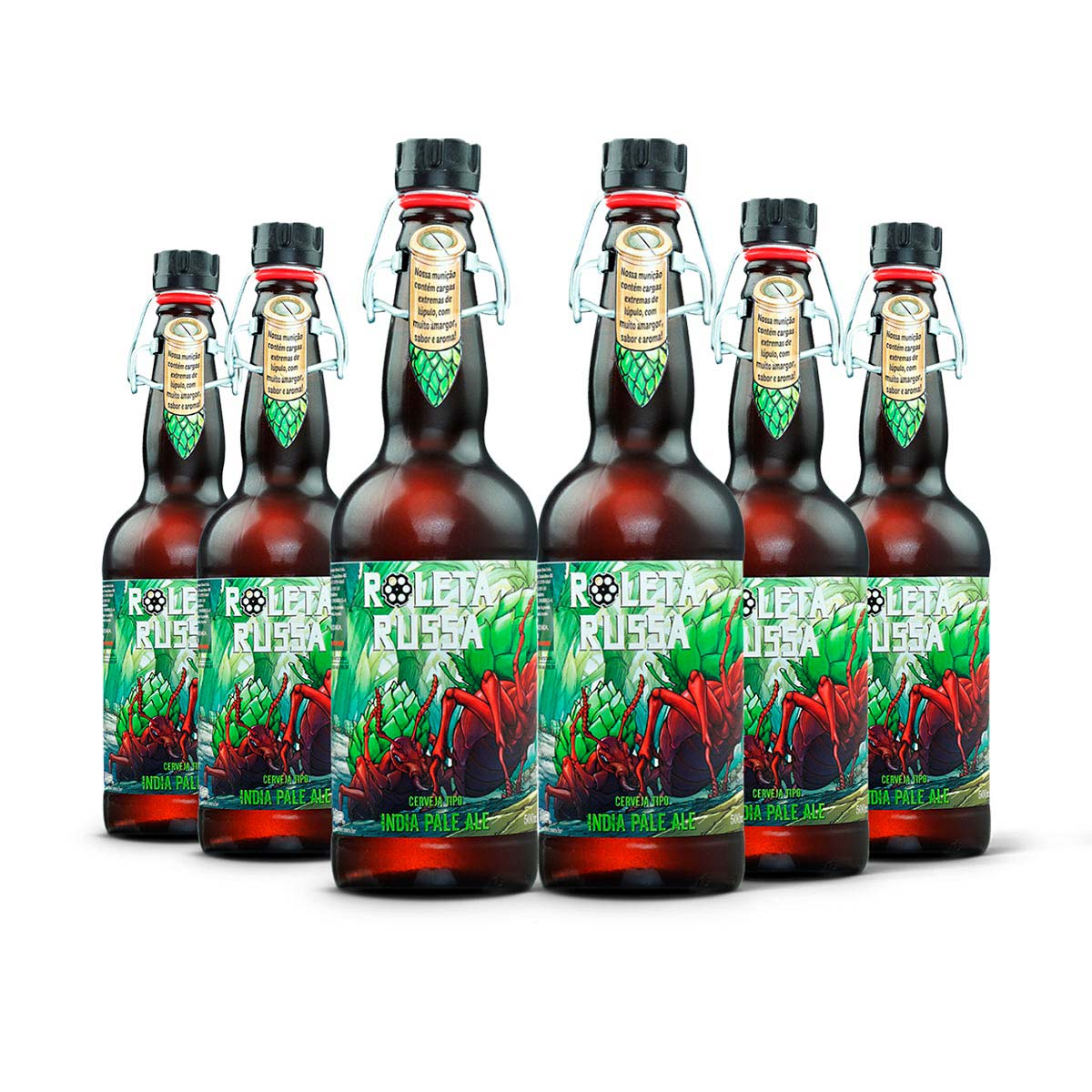 Pack Roleta Russa India Pale Ale IPA 6 cervejas 500ml
