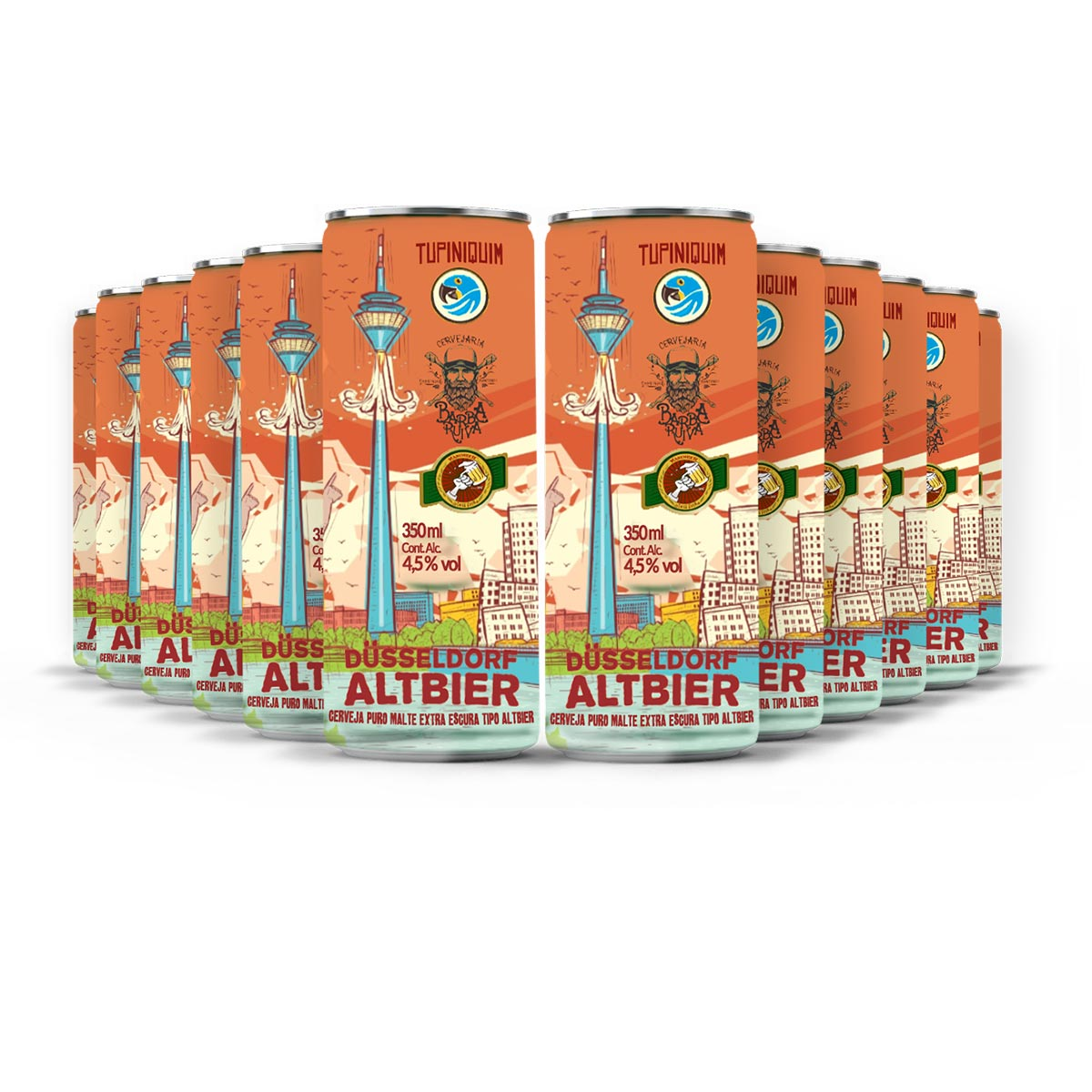 Pack Tupiniquim Altbier 12 cervejas 350ml