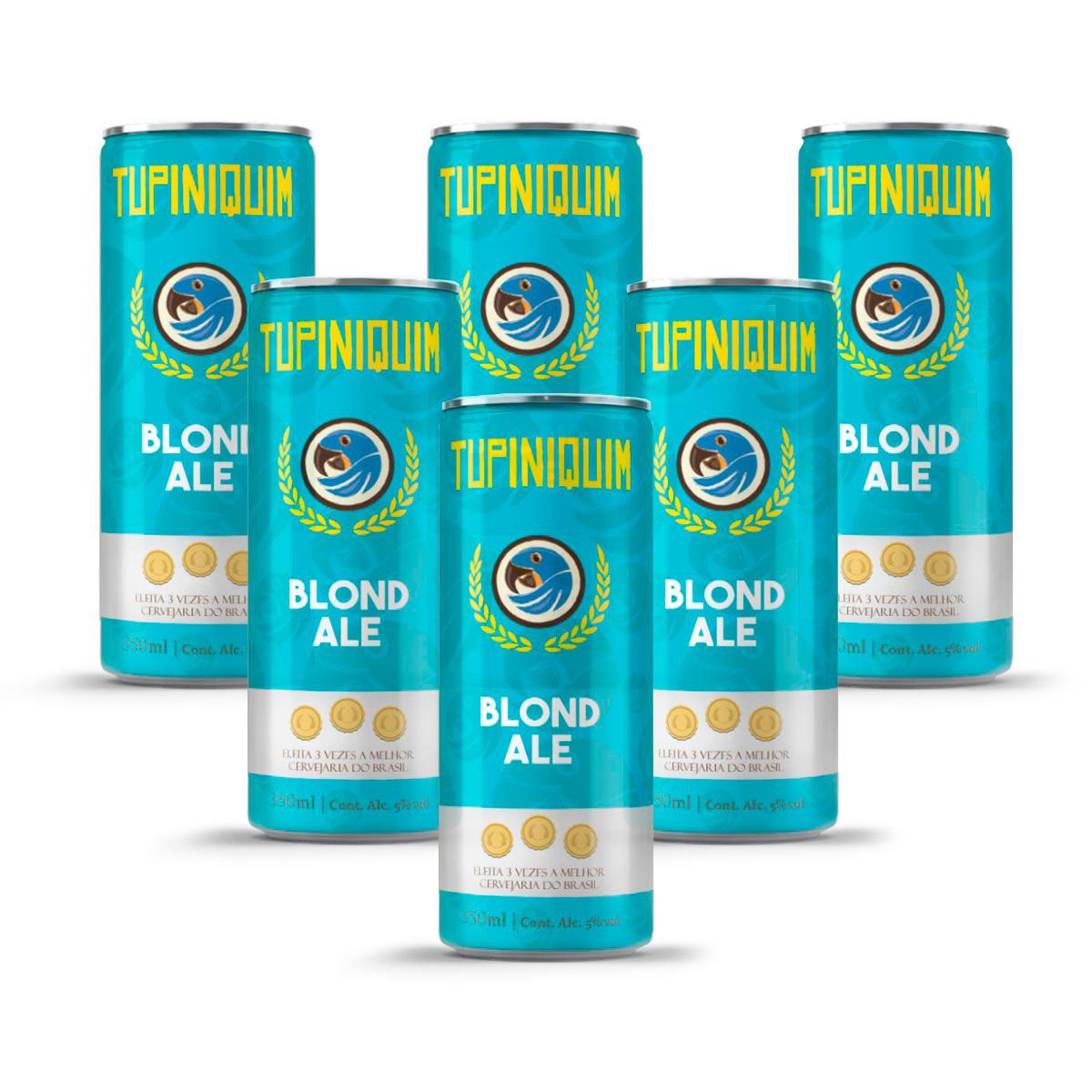 Pack Tupiniquim Blond Ale 6 cervejas 350ml