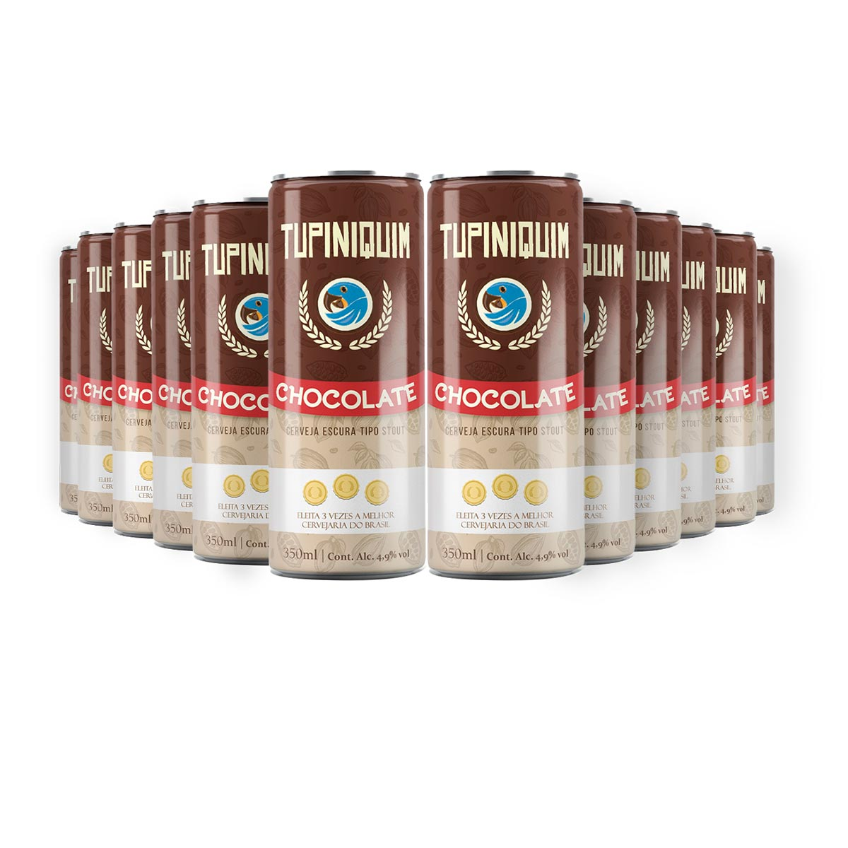 Pack Tupiniquim Chocolate Stout 12 cervejas 350ml