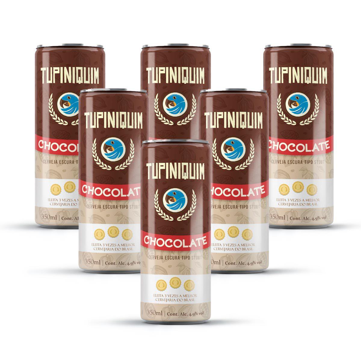 Pack Tupiniquim Chocolate Stout 6 latas 350ml