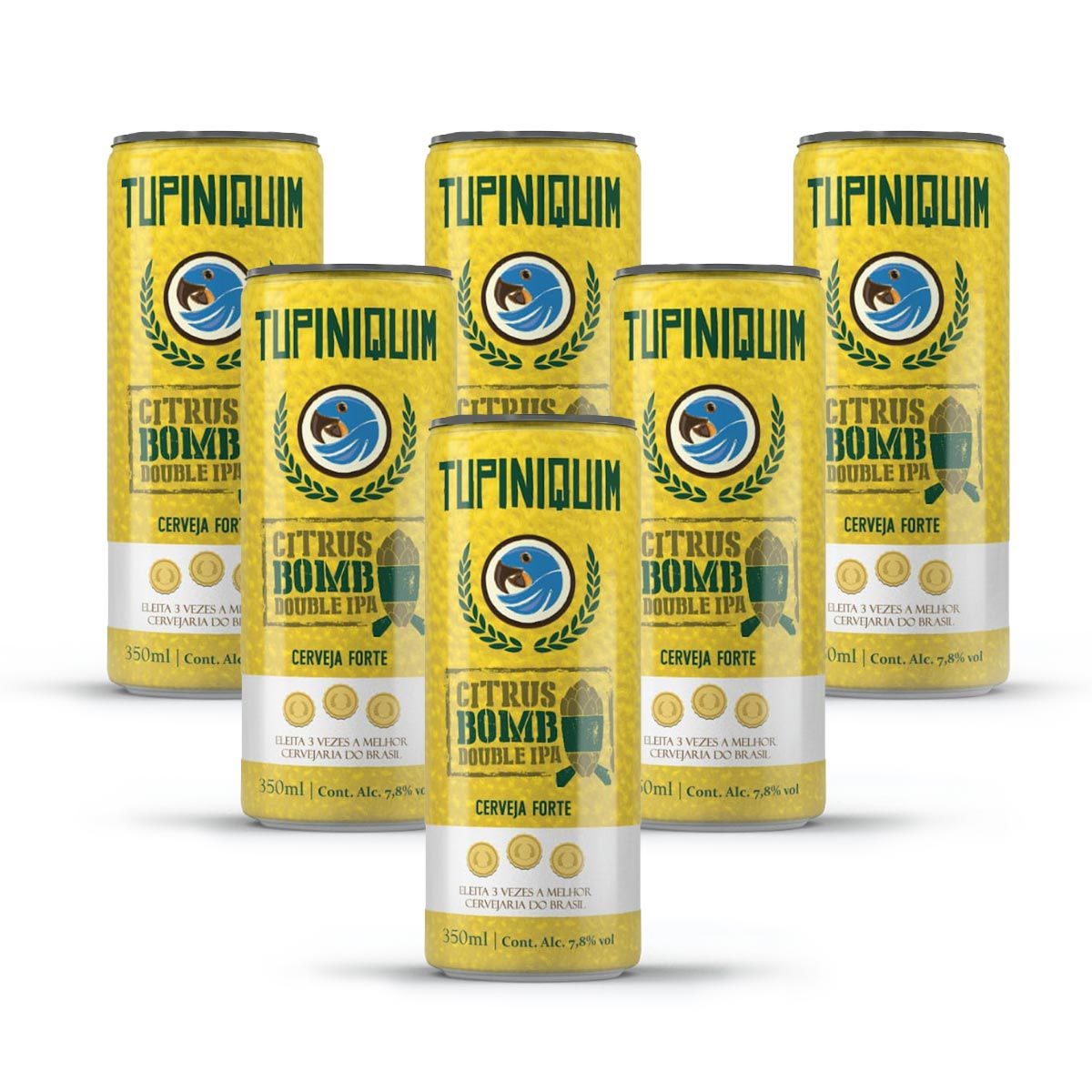 Pack Tupiniquim Citrus Bomb Double IPA 6 cervejas 350ml