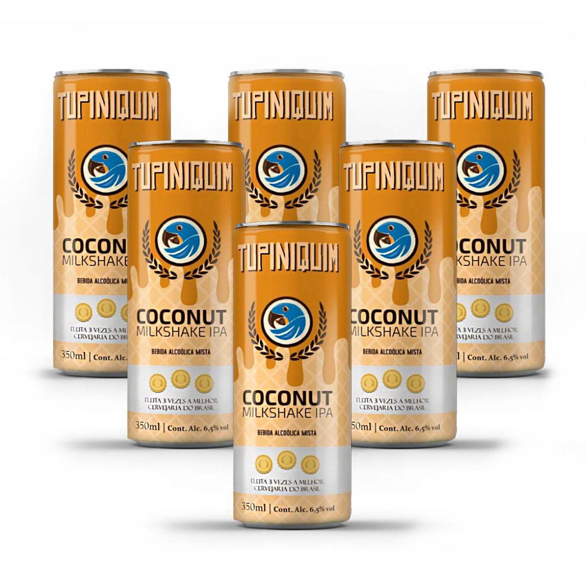 Pack Tupiniquim Coconut Milkshake IPA 6 cervejas 350ml  - RS BEER - Cervejas Gaúchas