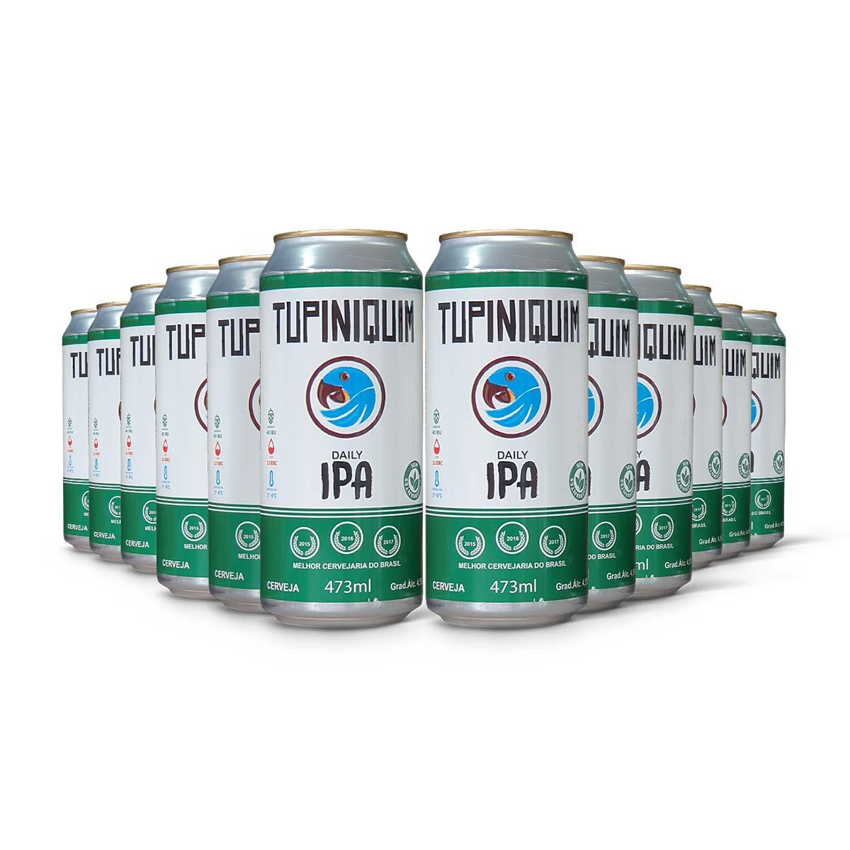 Pack Tupiniquim Daily IPA 12 cervejas 473ml