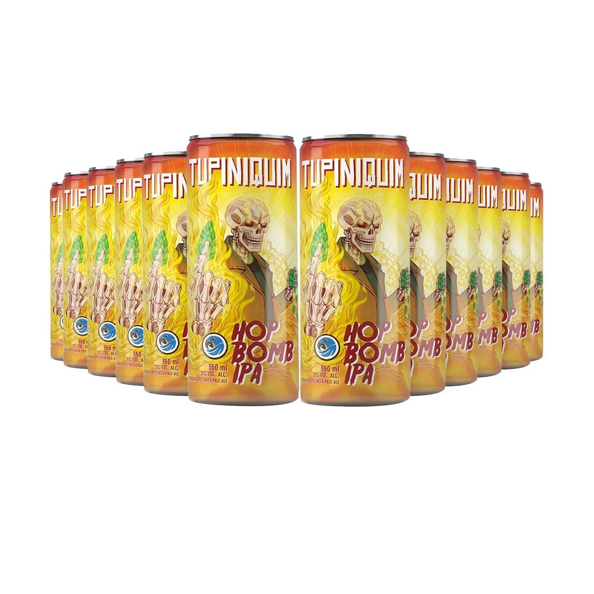 Pack Tupiniquim Hop Bomb IPA 12 cervejas 350ml