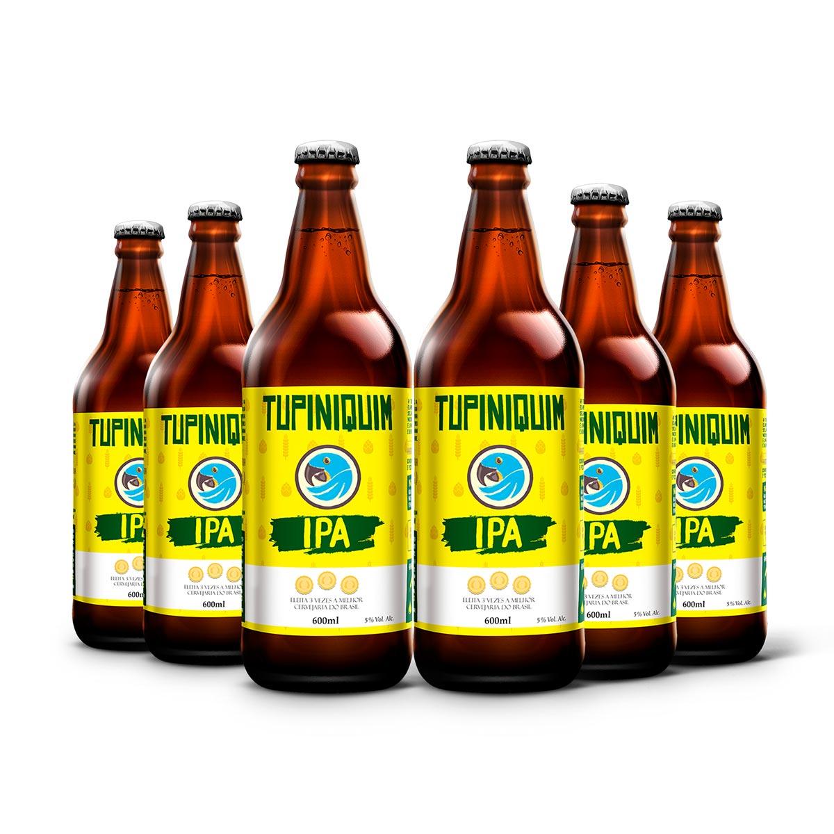 Pack Tupiniquim India Pale Ale IPA 6 cervejas 600ml