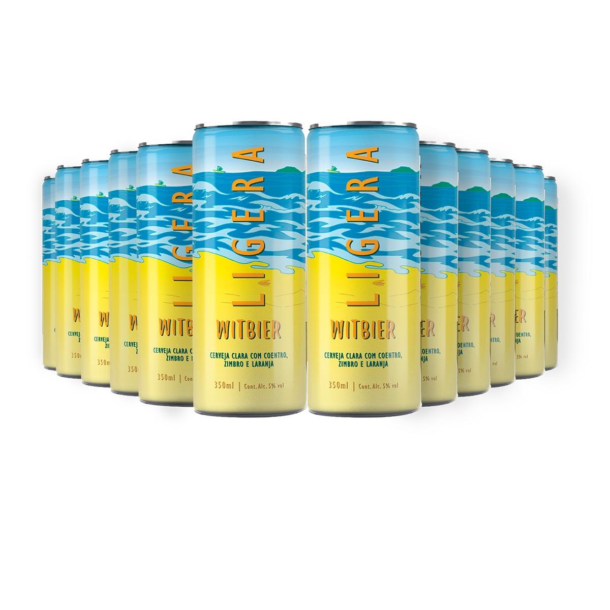 Pack Tupiniquim Ligera Witbier 12 cervejas 350ml
