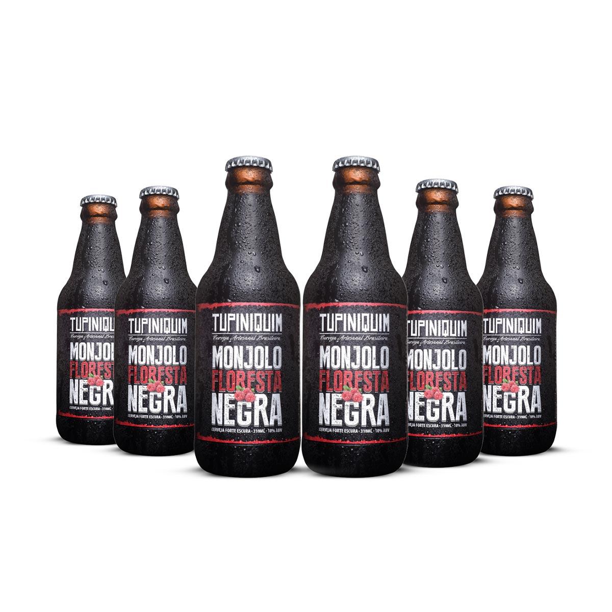 Pack Tupiniquim Monjolo Floresta Negra 6 cervejas 310ml