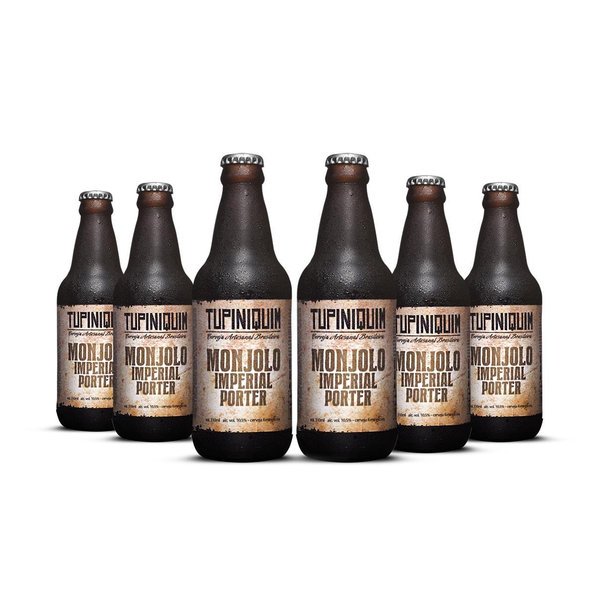 Pack Tupiniquim Monjolo Imperial Porter 6 cervejas 310ml