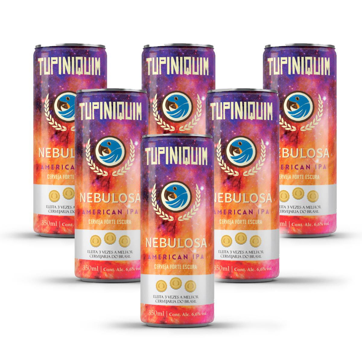 Pack Tupiniquim Nebulosa American IPA 6 cervejas 350ml