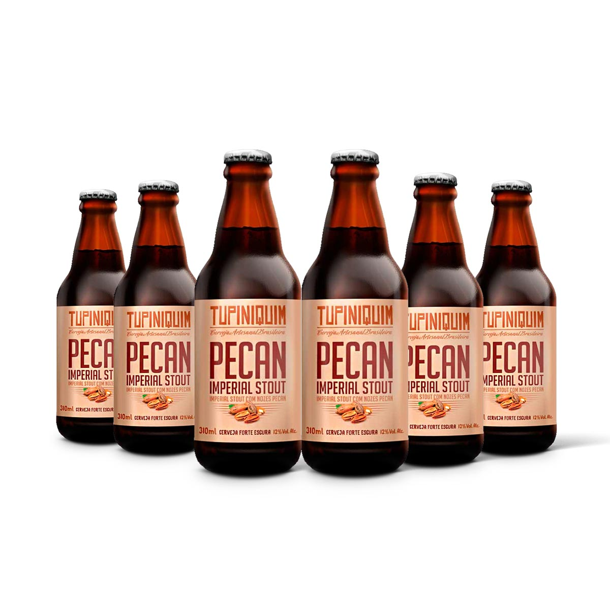 Pack Tupiniquim Pecan Imperial Stout 6 cervejas 310ml