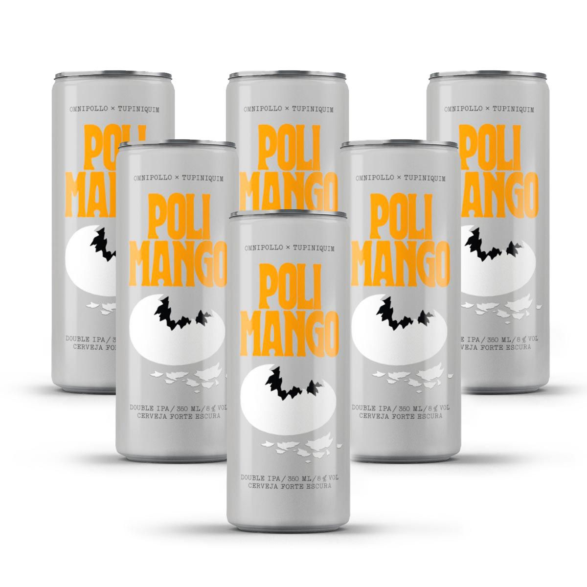 Pack Tupiniquim Polimango Double IPA 6 latas 350ml