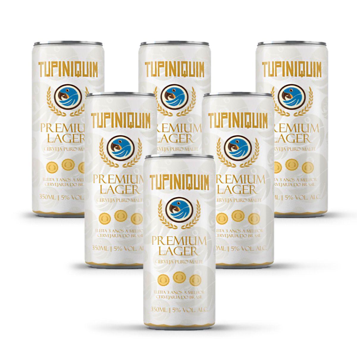 Pack Tupiniquim Premium Lager 6 cervejas 350ml