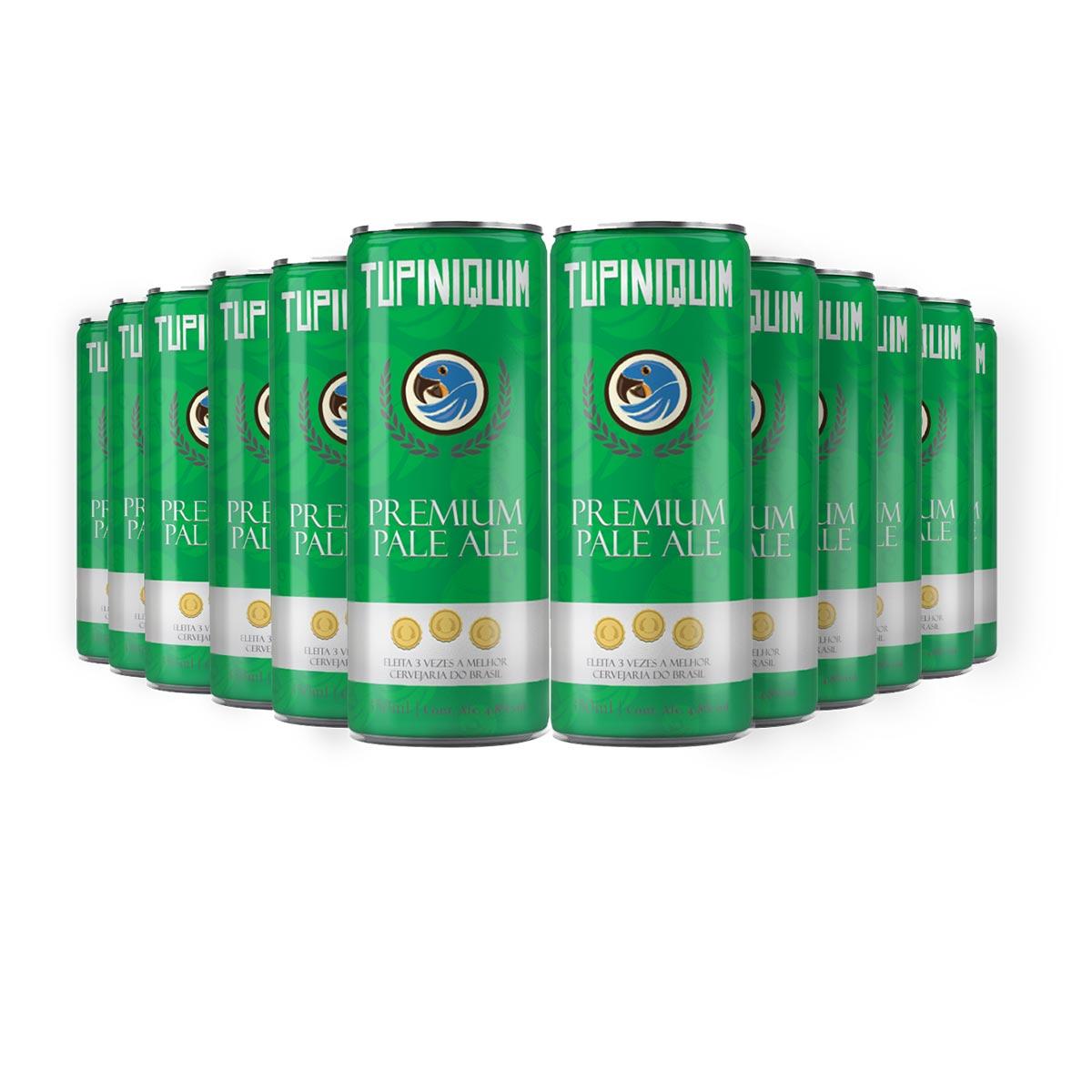 Pack Tupiniquim Premium Pale Ale 12 cervejas 350ml