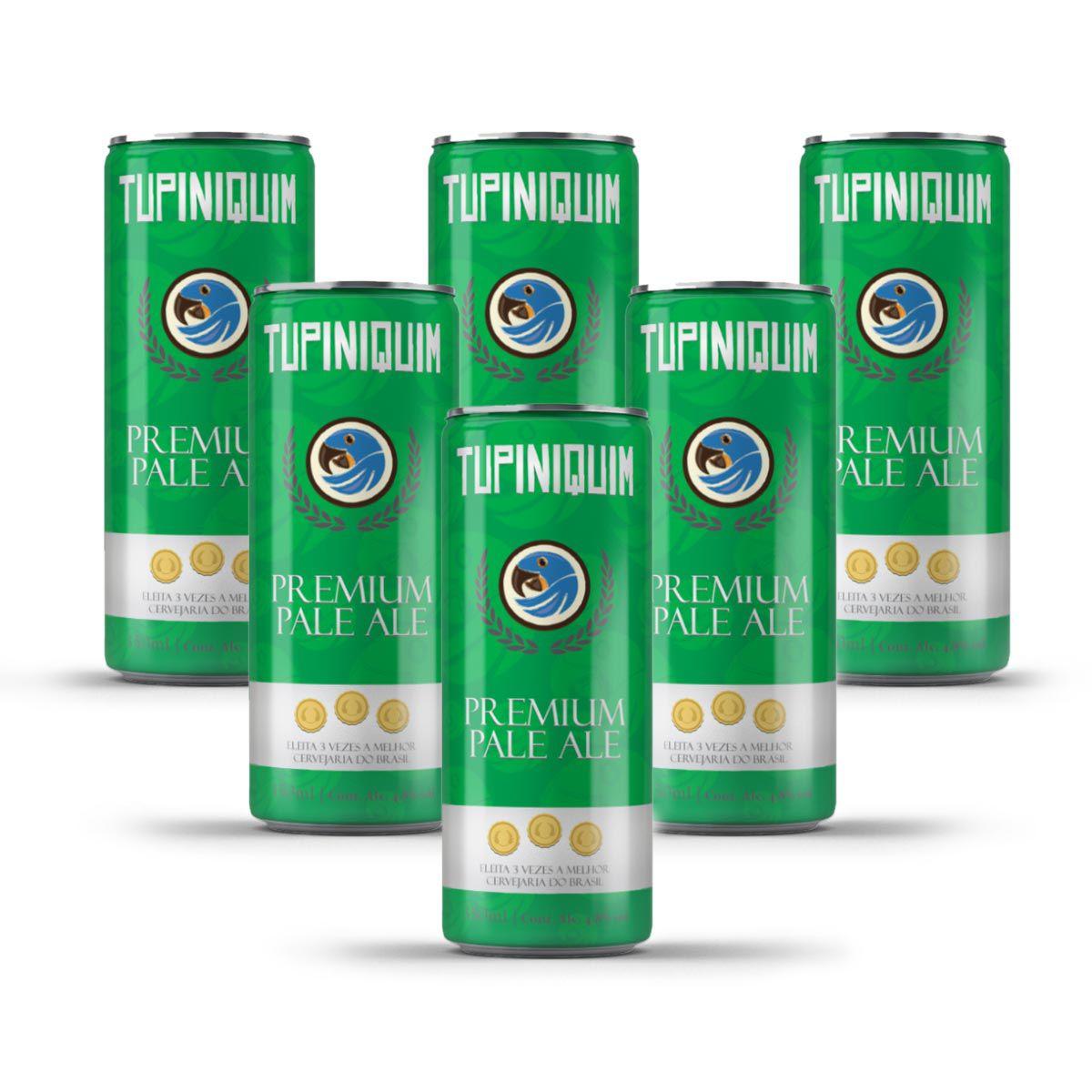 Pack Tupiniquim Premium Pale Ale 6 cervejas 350ml