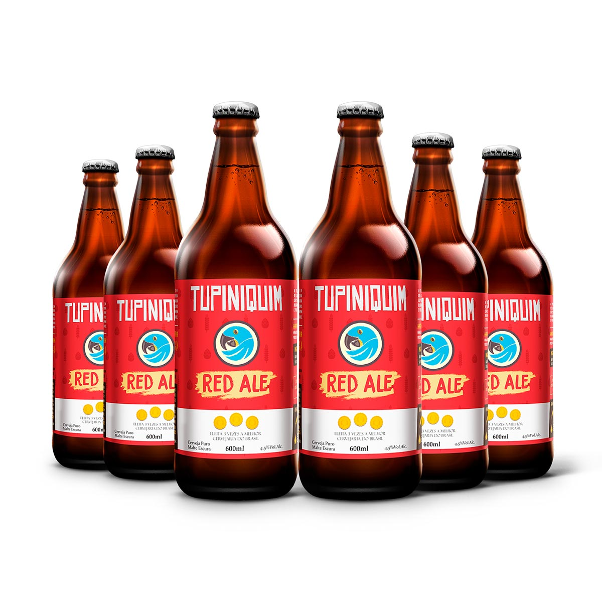 Pack Tupiniquim Red Ale 6 cervejas 600ml