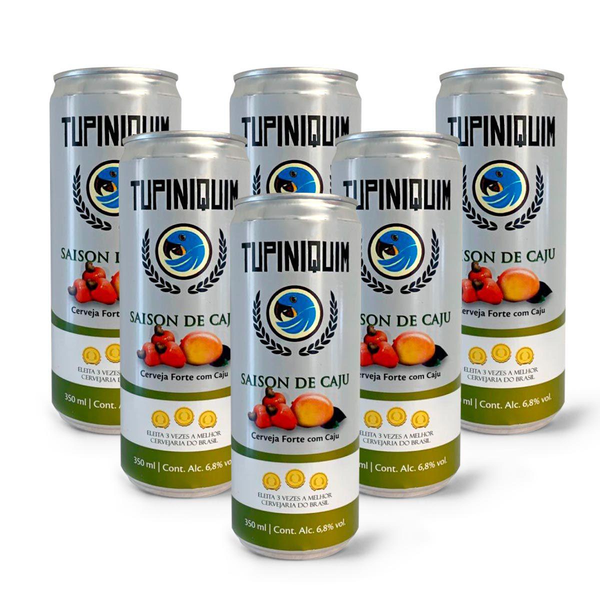 Pack Tupiniquim Saison Cajú 6 cervejas 350ml