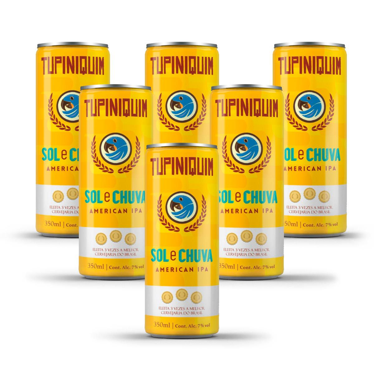 Pack Tupiniquim Sol e Chuva American IPA 6 cervejas 350ml