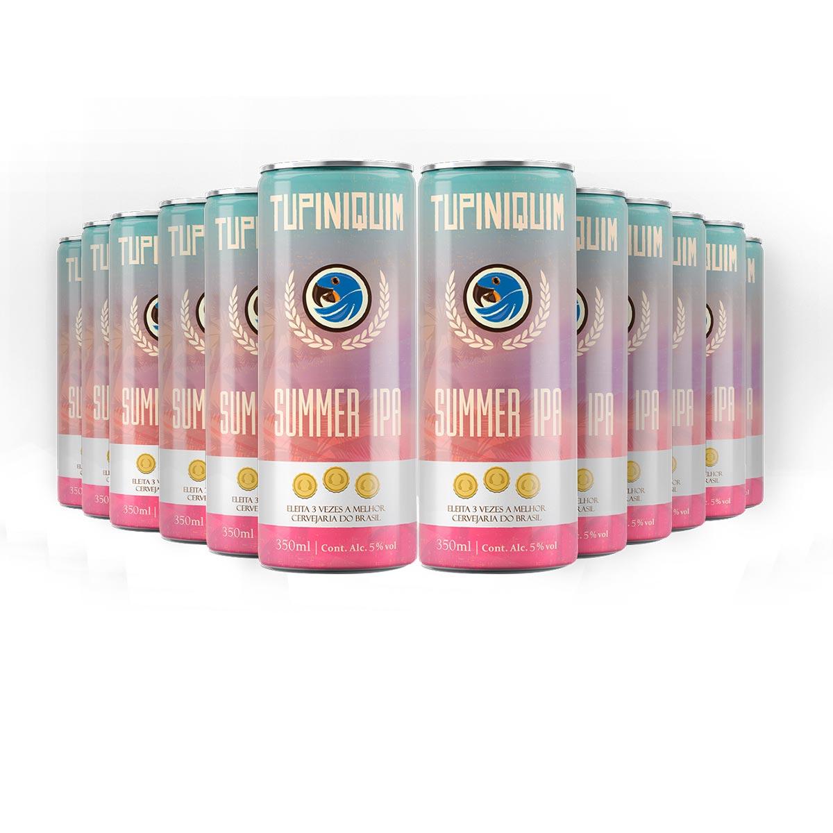 Pack Tupiniquim Summer IPA 12 cervejas 350ml  - RS BEER - Cervejas Gaúchas