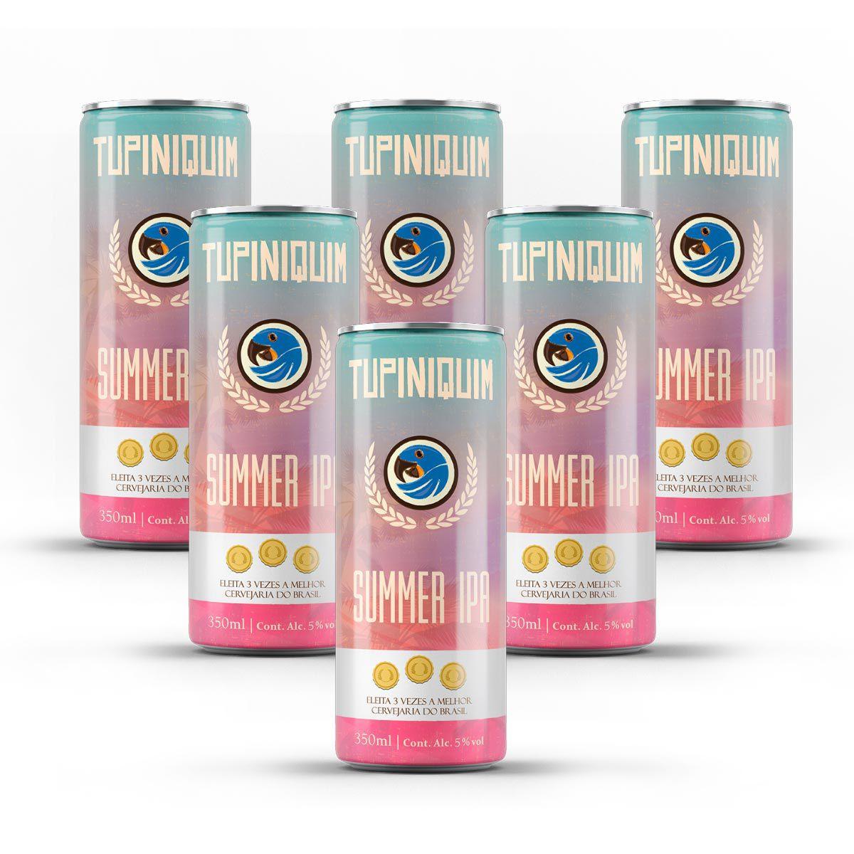 Pack Tupiniquim Summer IPA 6 latas 350ml