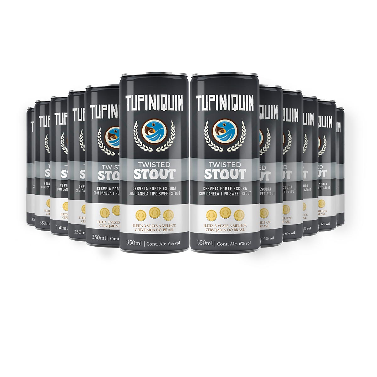Pack Tupiniquim Twisted Stout 12 cervejas 350ml