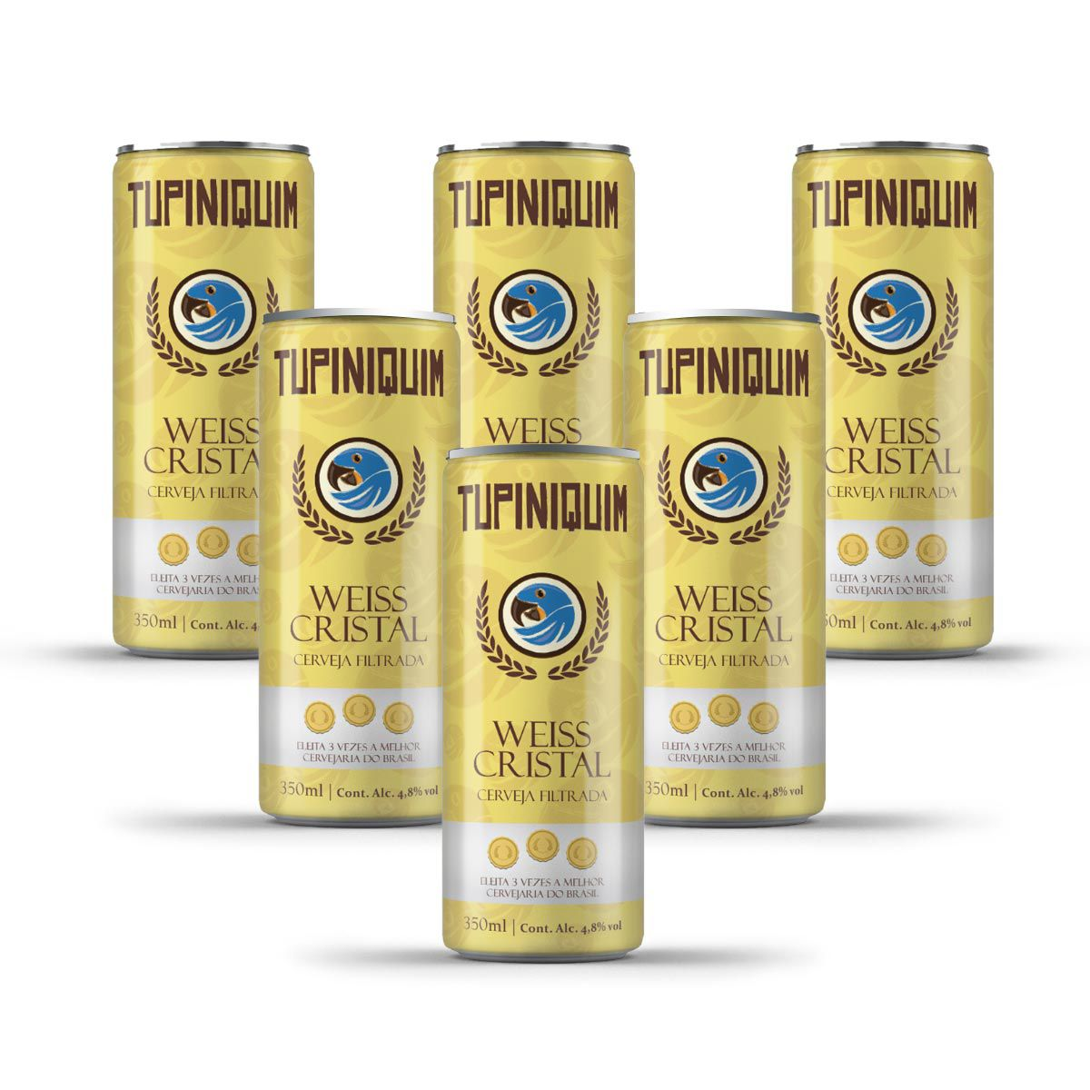 Pack Tupiniquim Weiss Cristal 6 cervejas 350ml