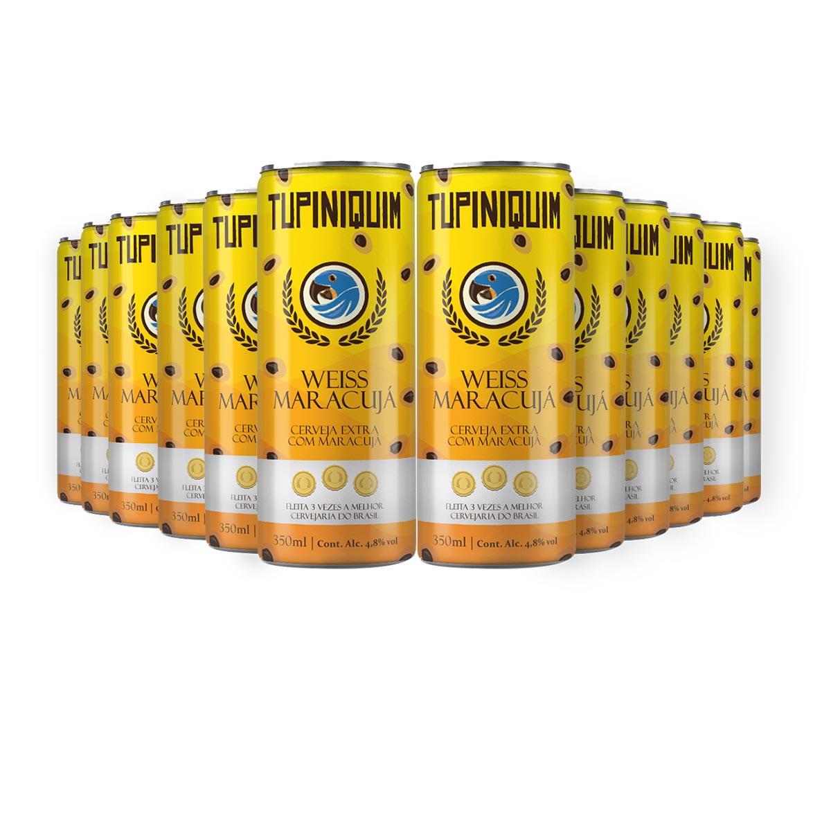Pack Tupiniquim Weiss Maracujá 12 cervejas 350ml