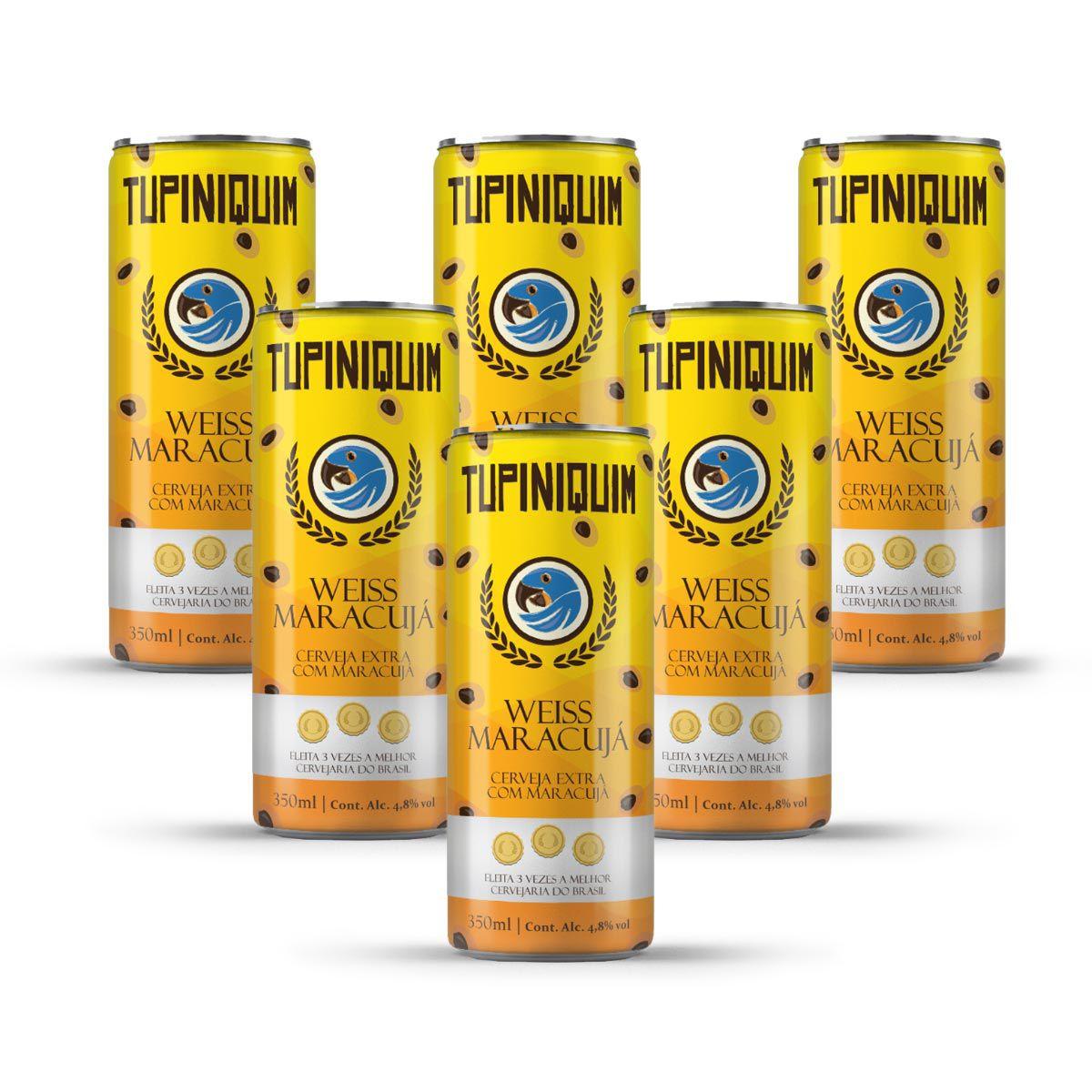 Pack Tupiniquim Weiss Maracujá 6 cervejas 350ml