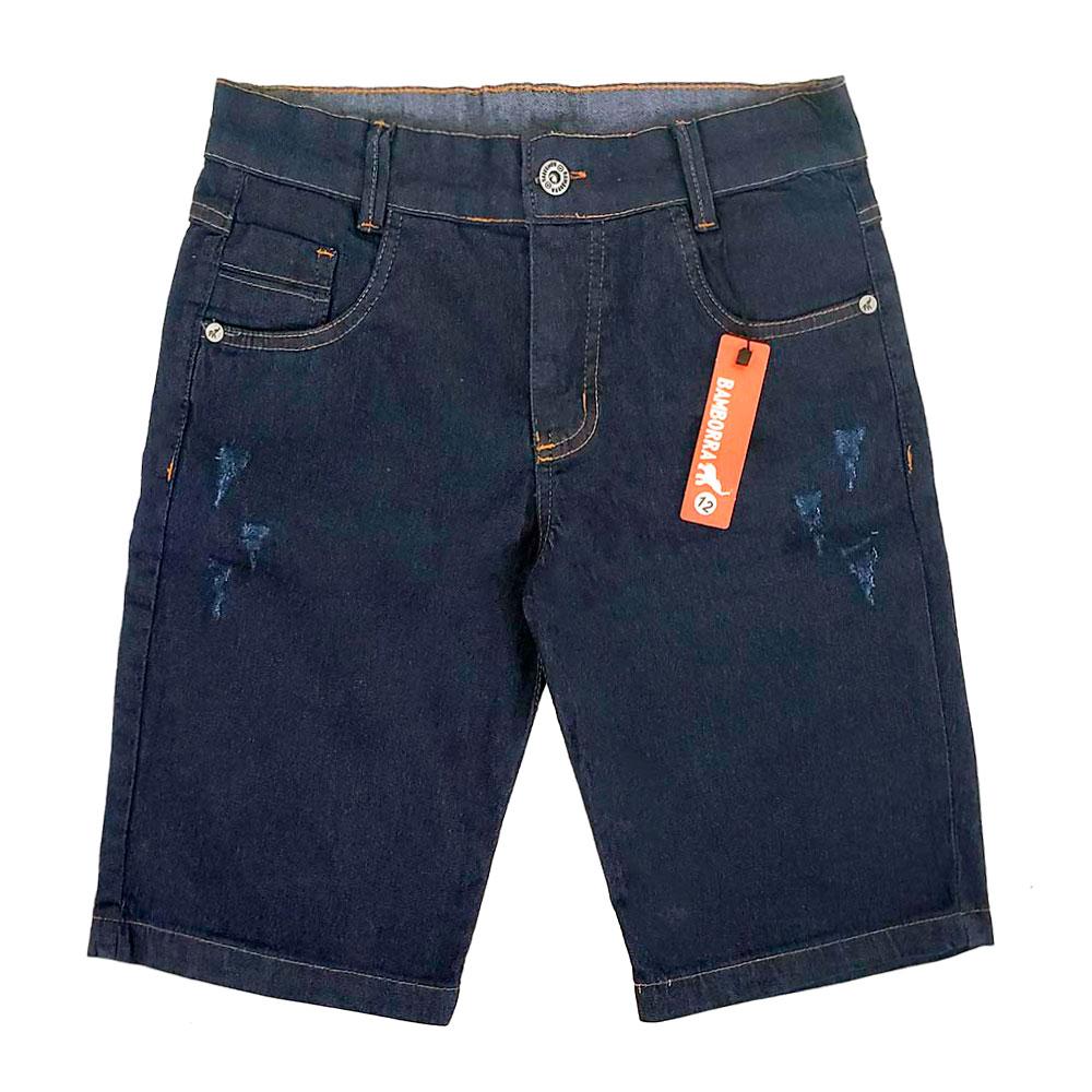 Bermuda Jeans Infantojuvenil Meninos 2 a 16 Anos