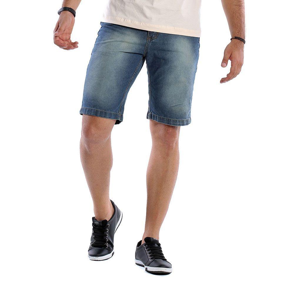 Bermuda Jeans Masculina Tradicional Bamborra