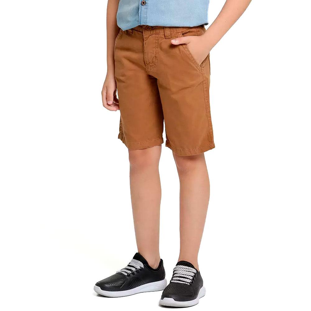 Bermuda Sarja Infantil Caramelo Meninos 2 a 16 anos